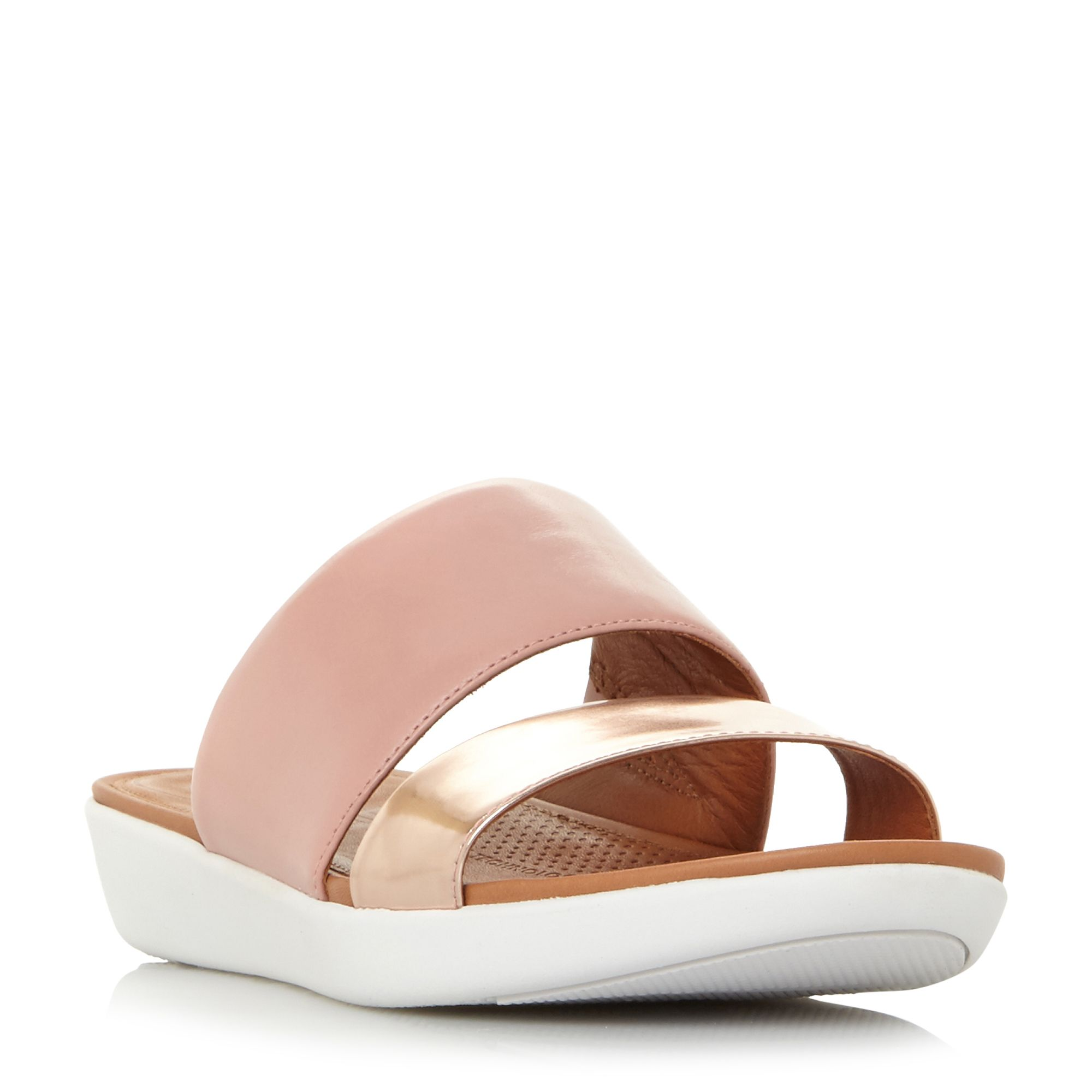 FitFlop Delta Double Strap Slider Shoes, Pink