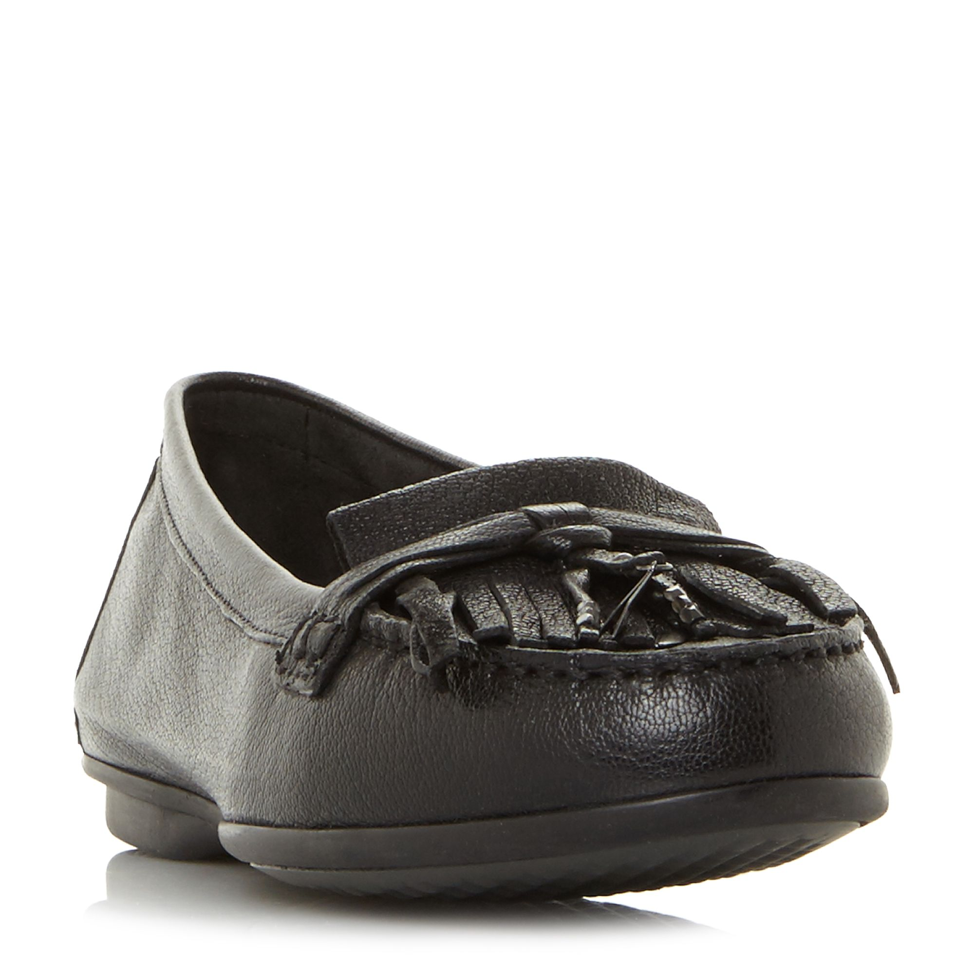 Hush Puppies Naveen Robyn Fringe Tassel Loafer Shoes, Black