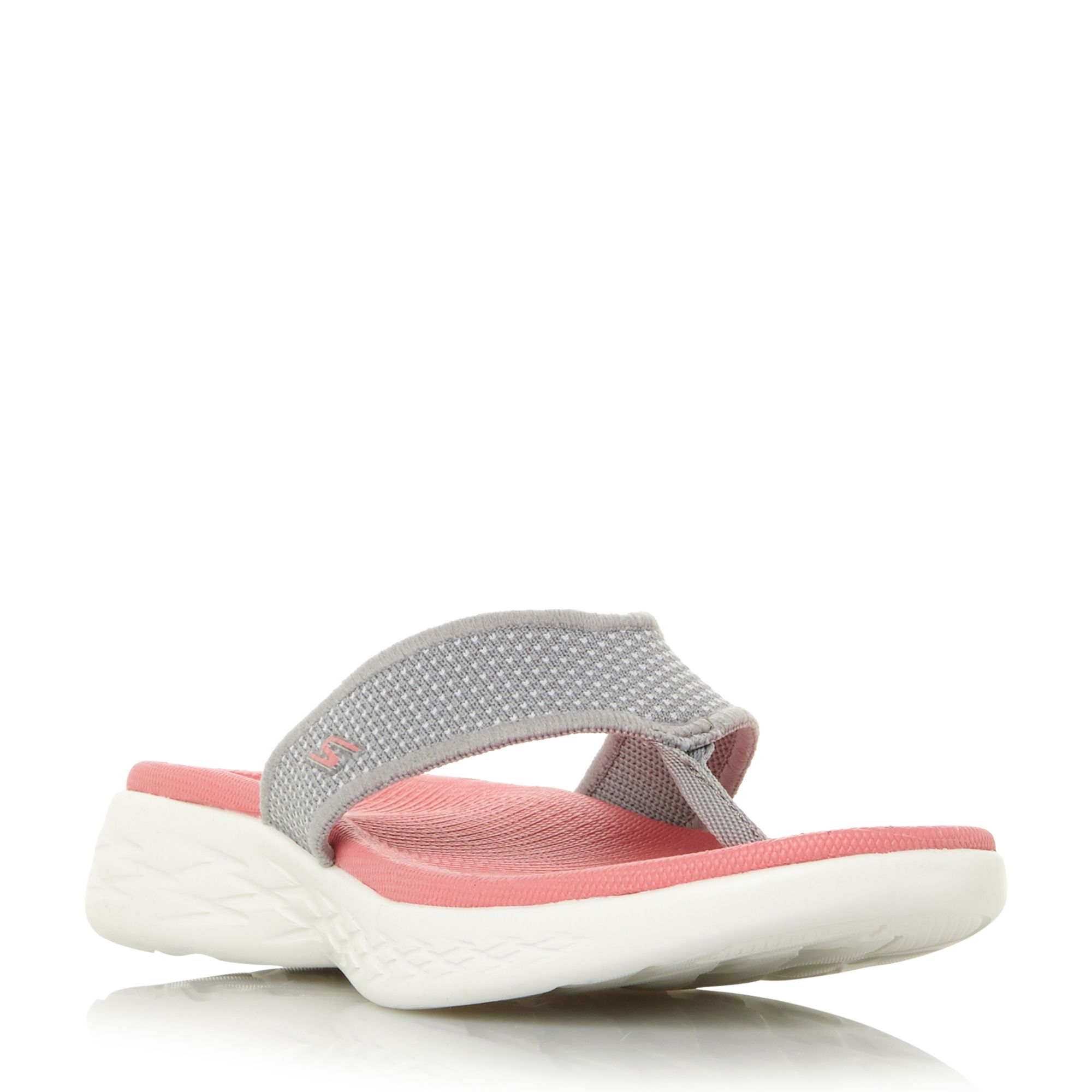 Skechers On The Go 600 Footbed Sandal Shoes, Grey