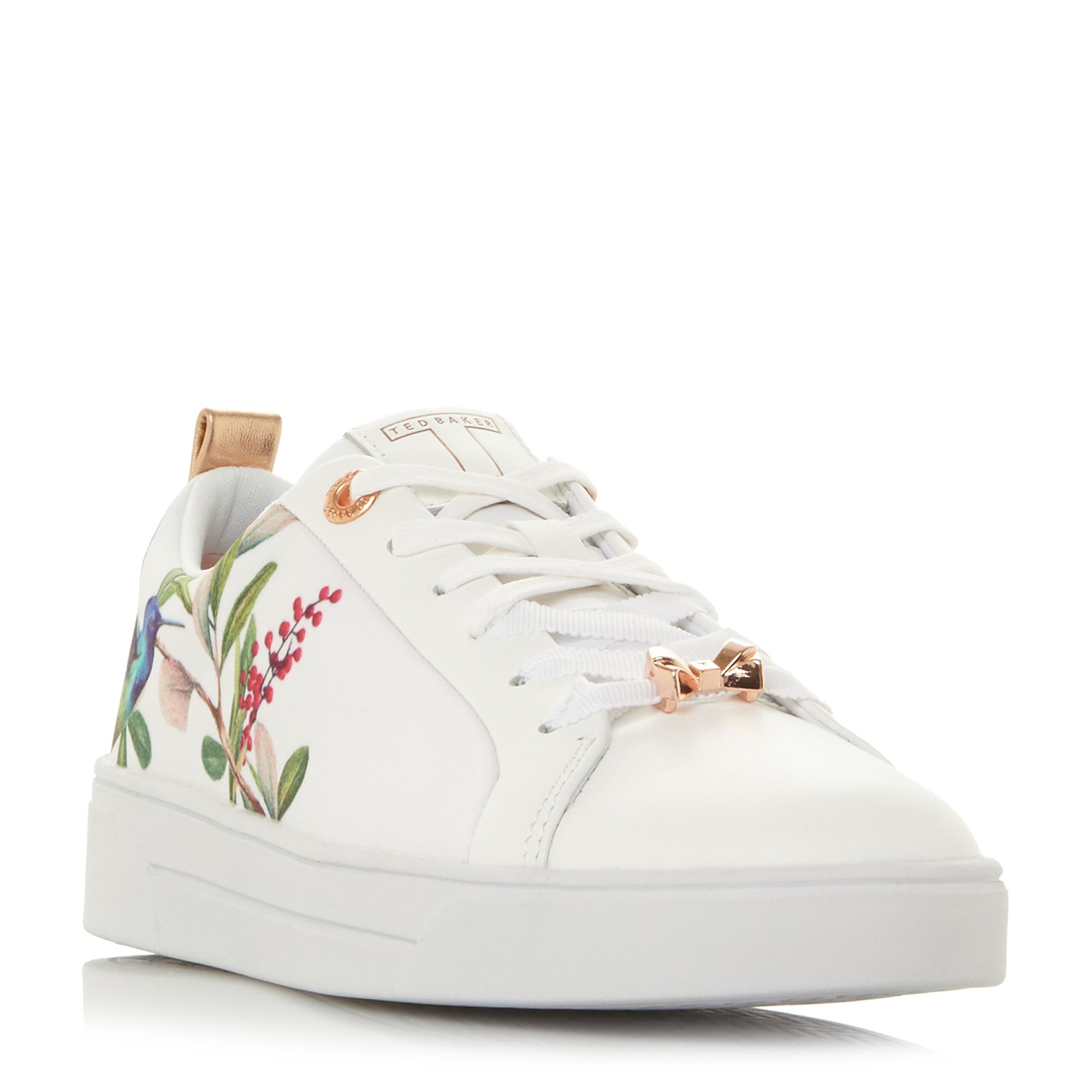 Ted Baker Ahfira Blossom Print Lace Up Trainers, Multi-Coloured