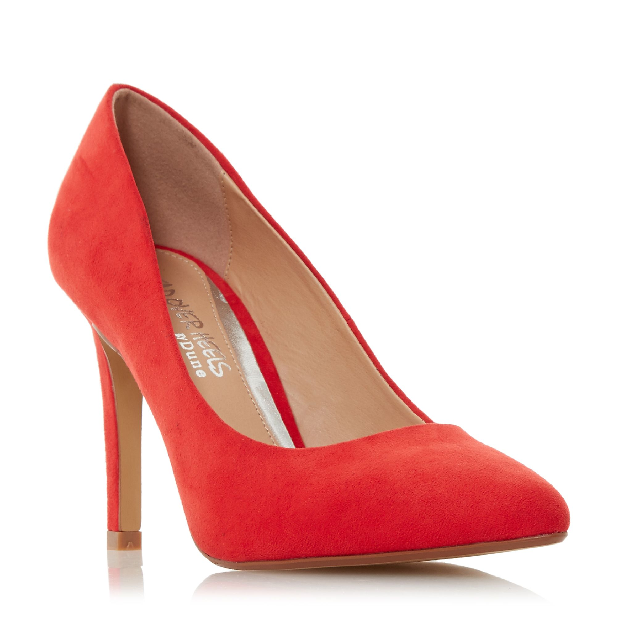 Head Over Heels Alexxa Point Toe Stiletto Court Shoes, Red