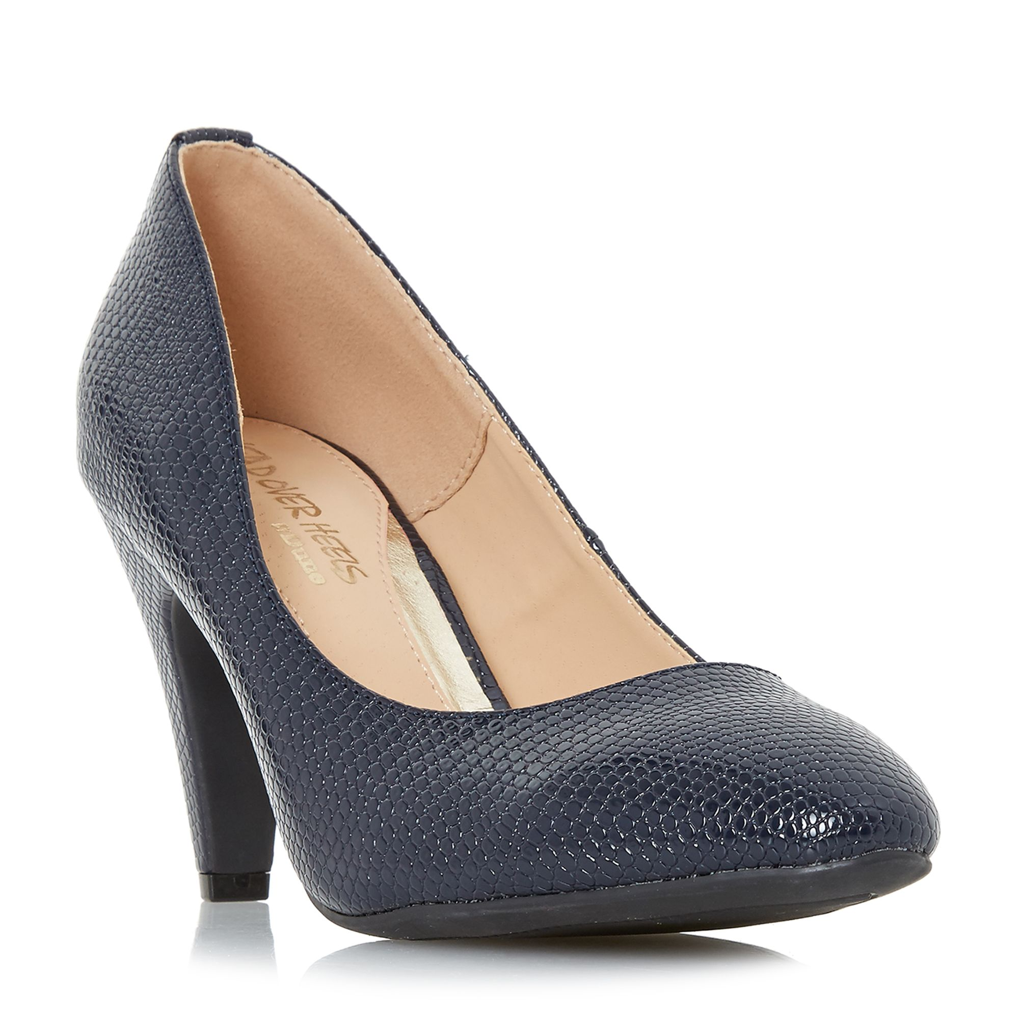 Head Over Heels Ava Low Point Court Shoes, Blue
