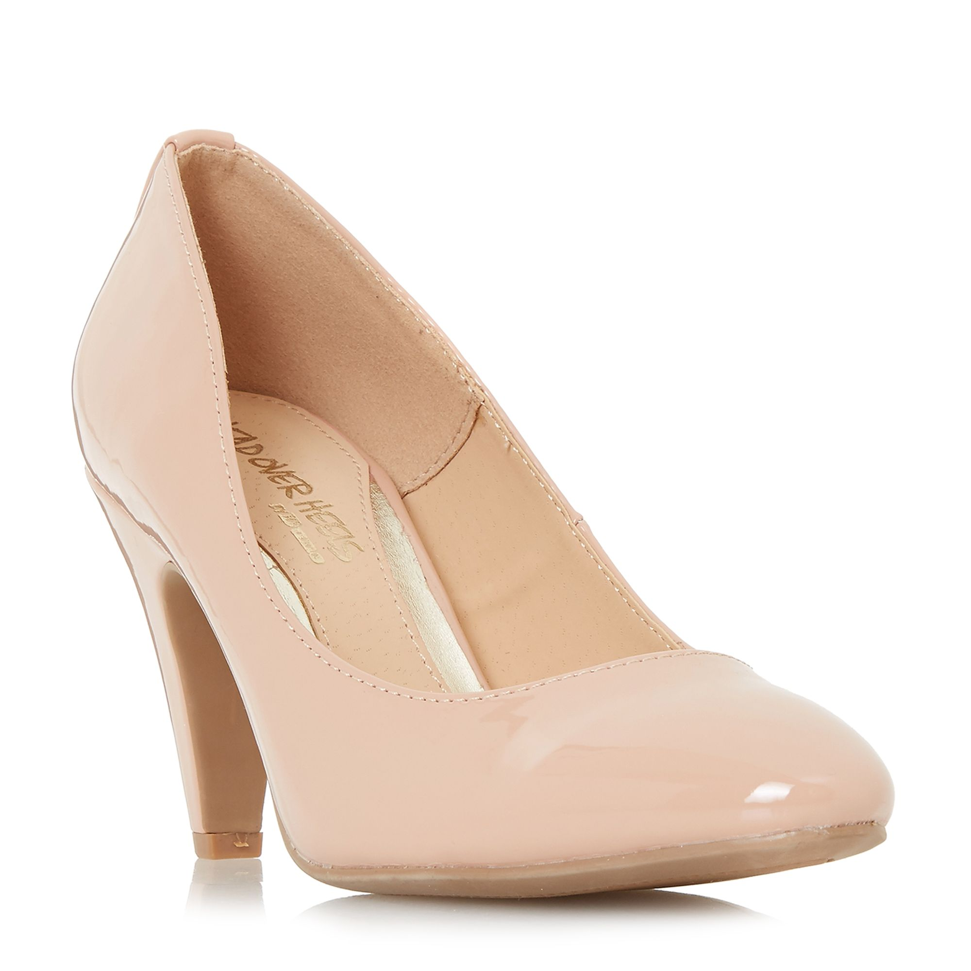 Head Over Heels Ava Low Point Court Shoes, Cream