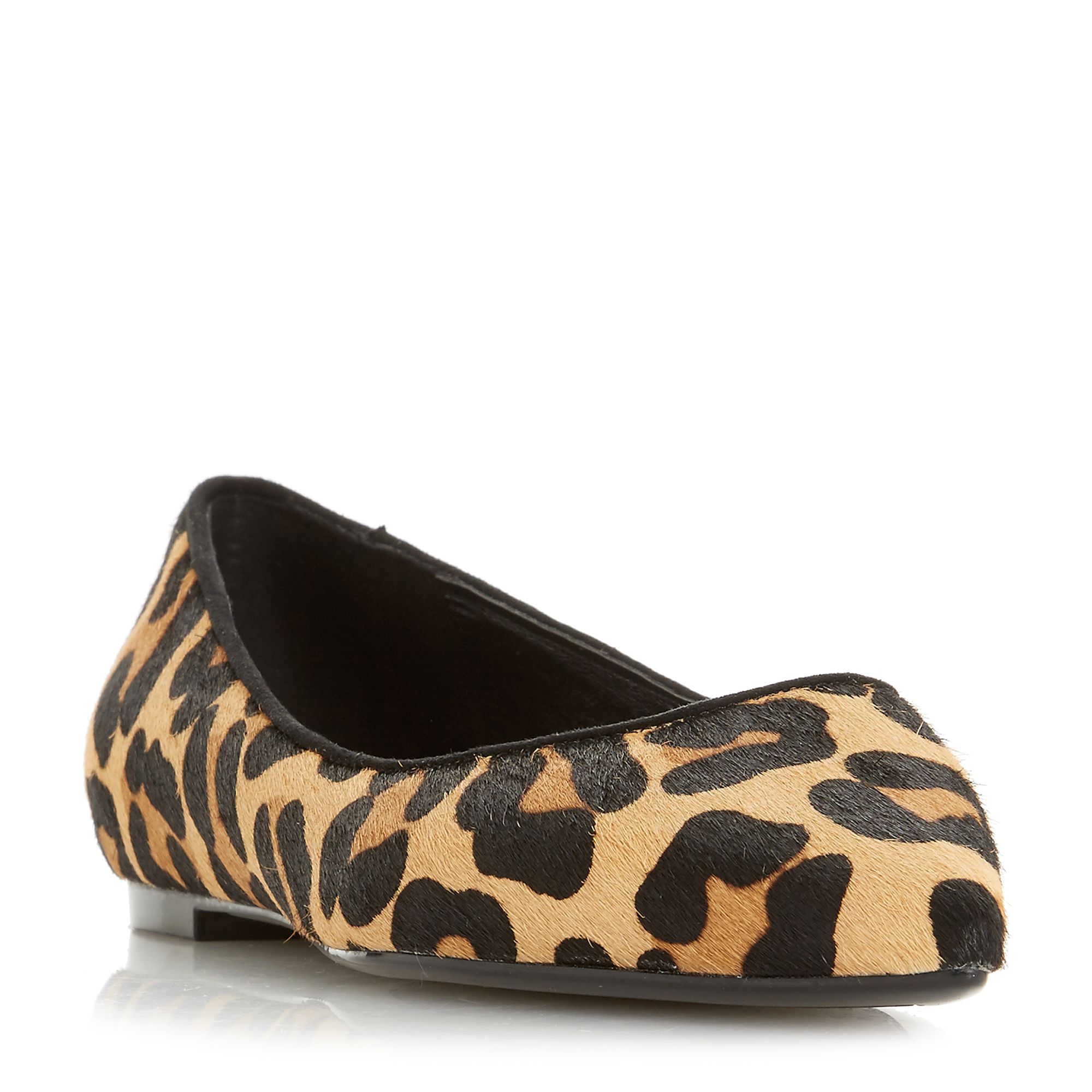 Dune Aeron Flex Pointed Toe Slip On Shoes, Leopard