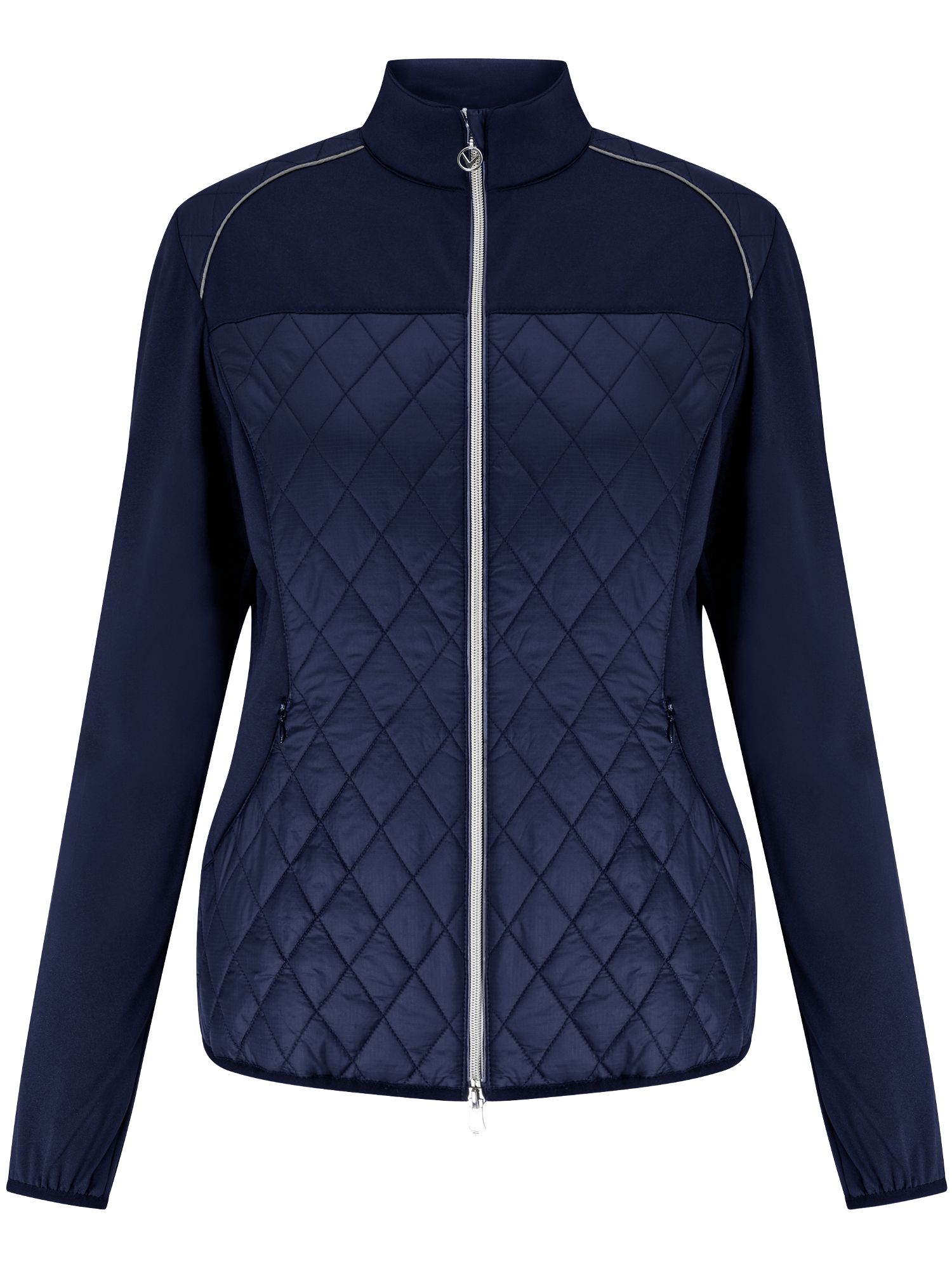 Callaway Mixed Media Quilted Jacket, Blue