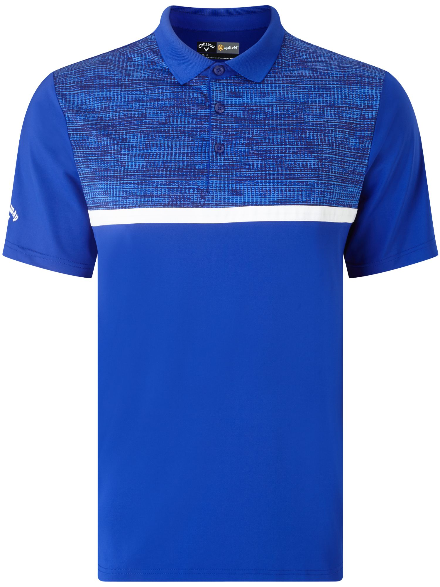 Men's Callaway Printed Block Polo, Blue