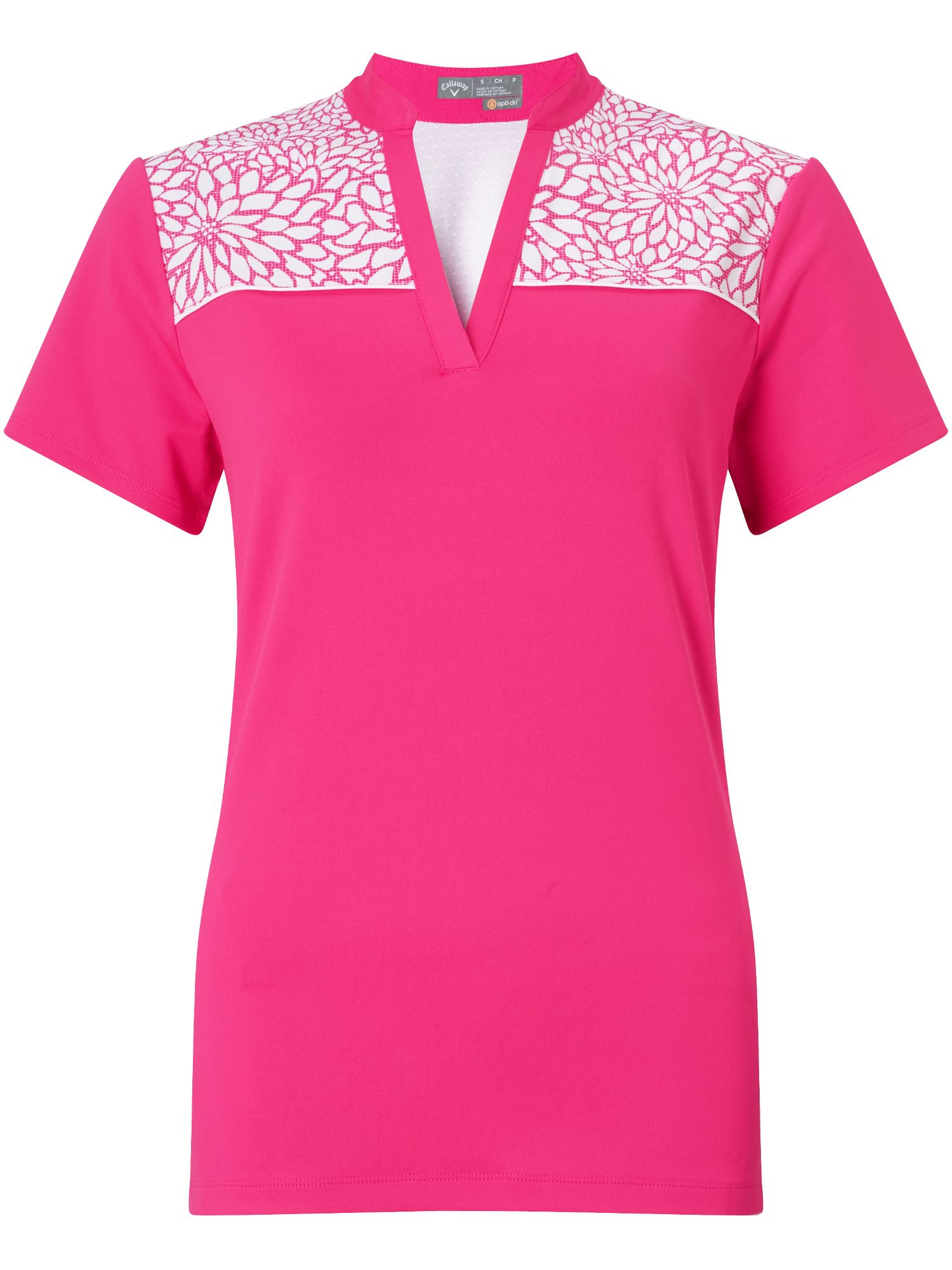 Callaway Floral Polo, Pink
