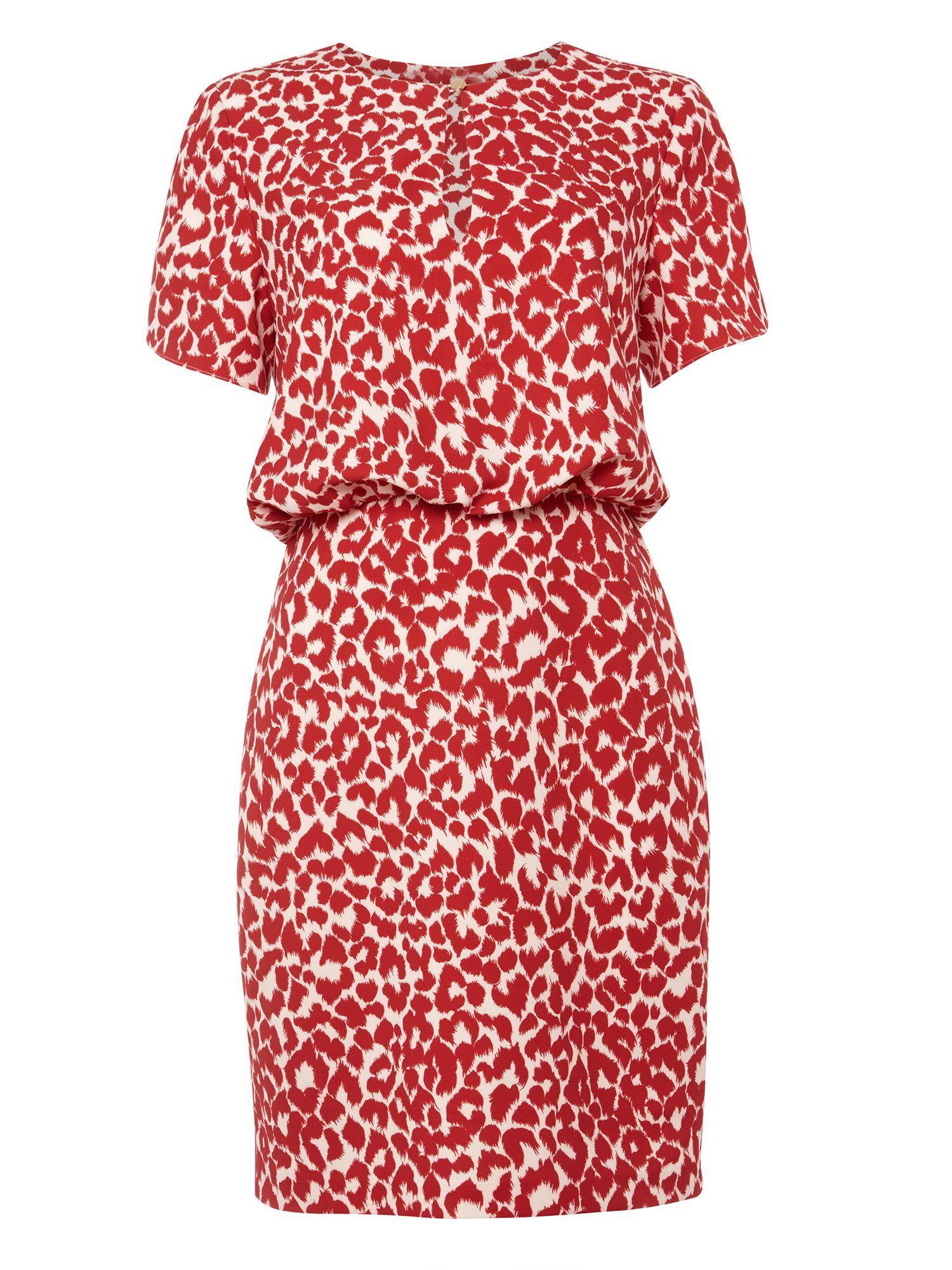 Damsel in a Dress Strawberry Leopard Dress, Red