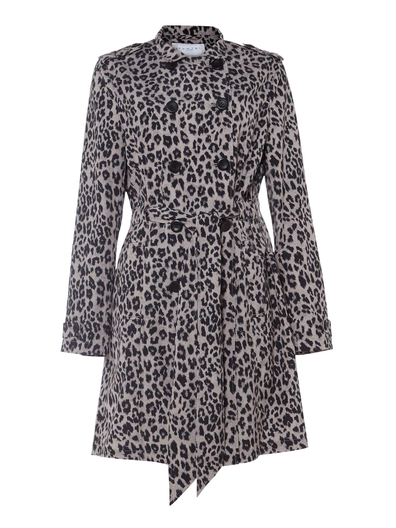 Damsel in a Dress Roaming Leopard Trench Coat, Neutral