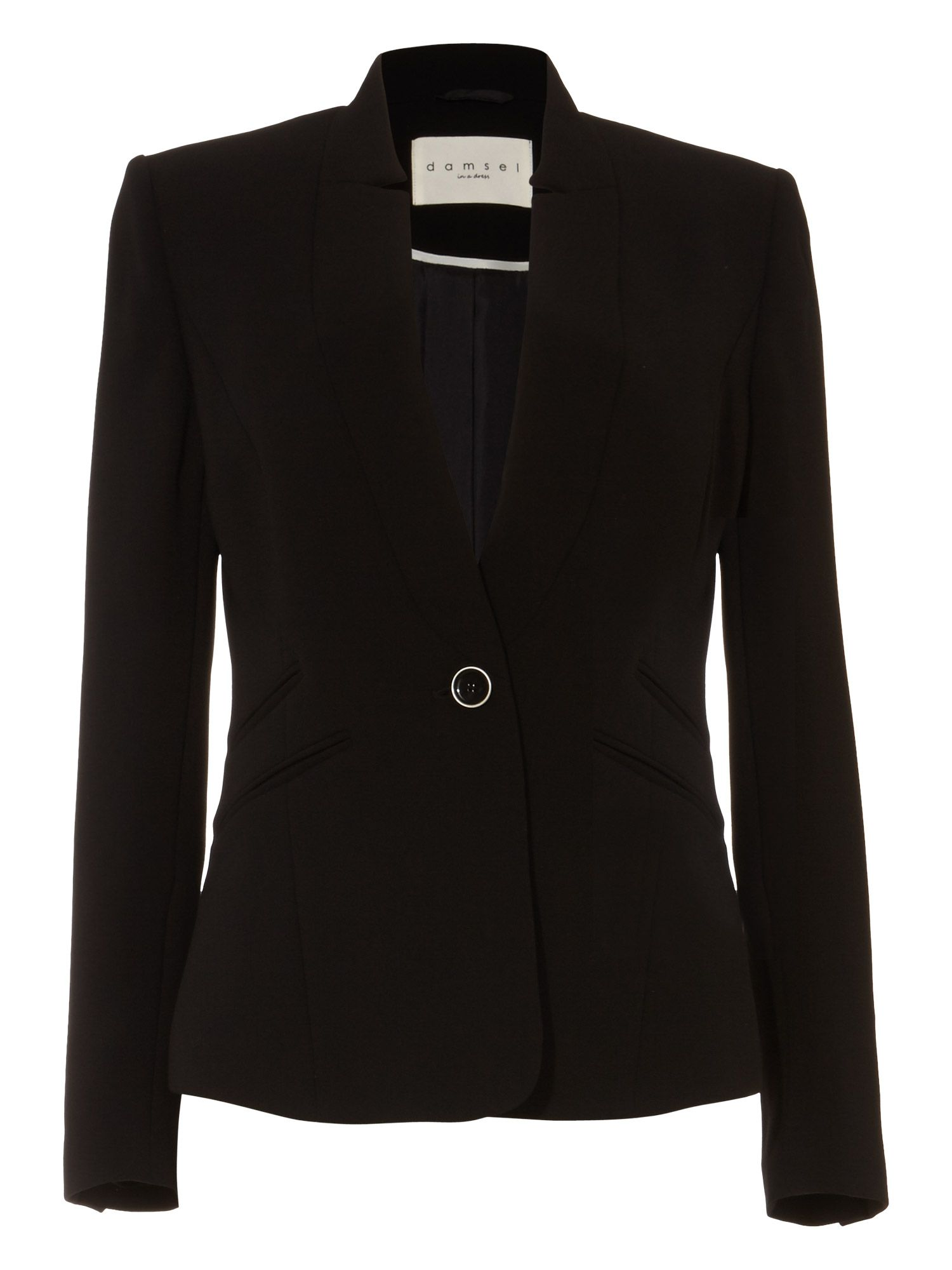 Damsel in a Dress City Suit Jacket, Black