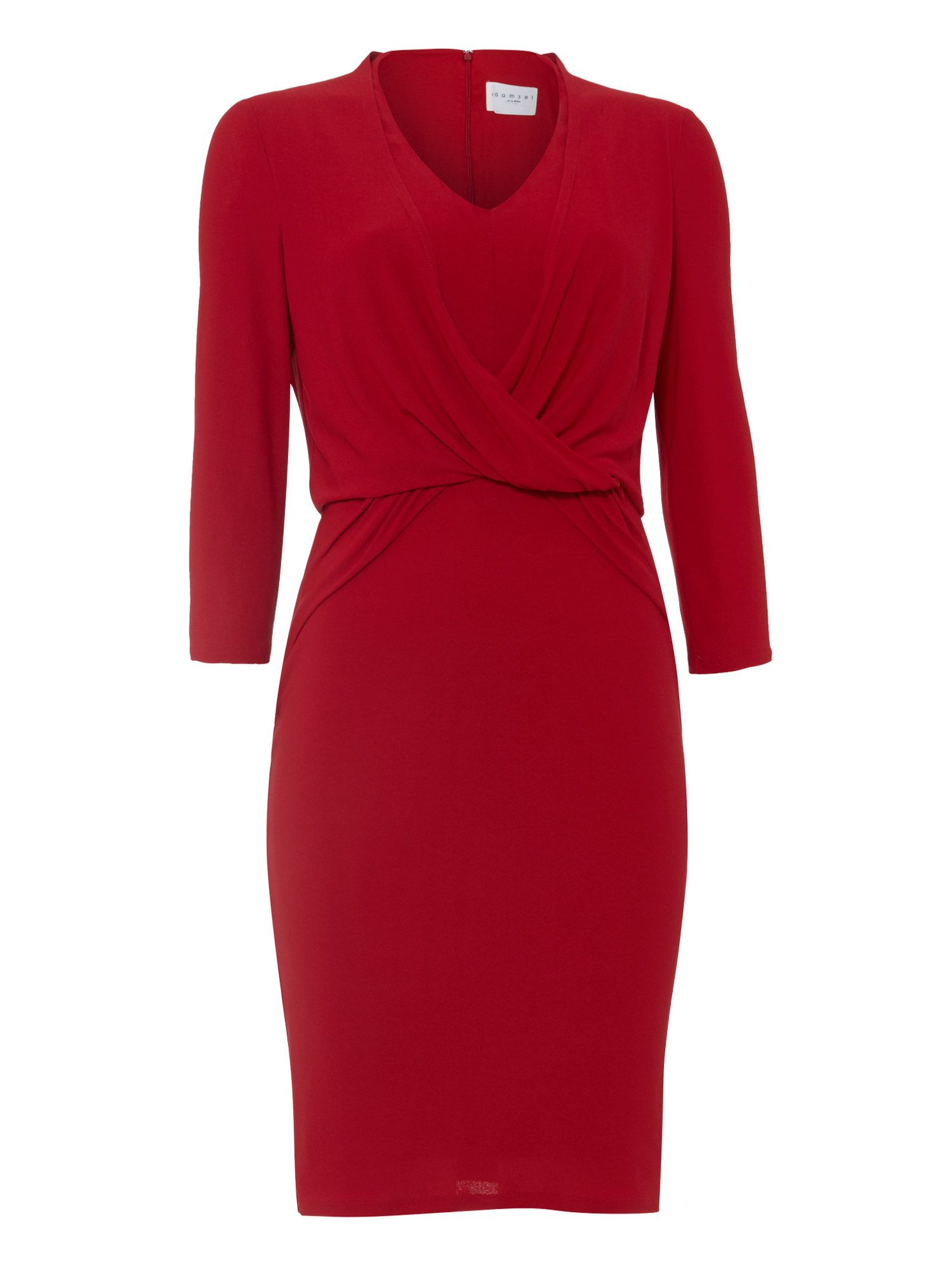 Damsel in a Dress Cherry Twist Knot Jersey Dress, Red