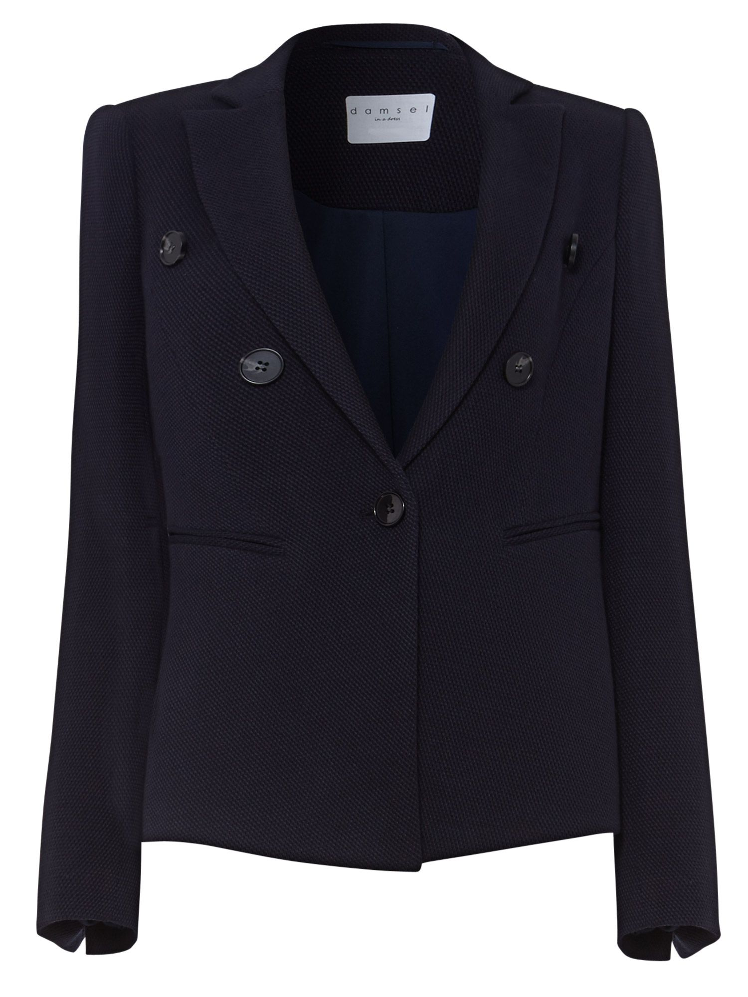 Damsel in a Dress Textured Blazer, Blue