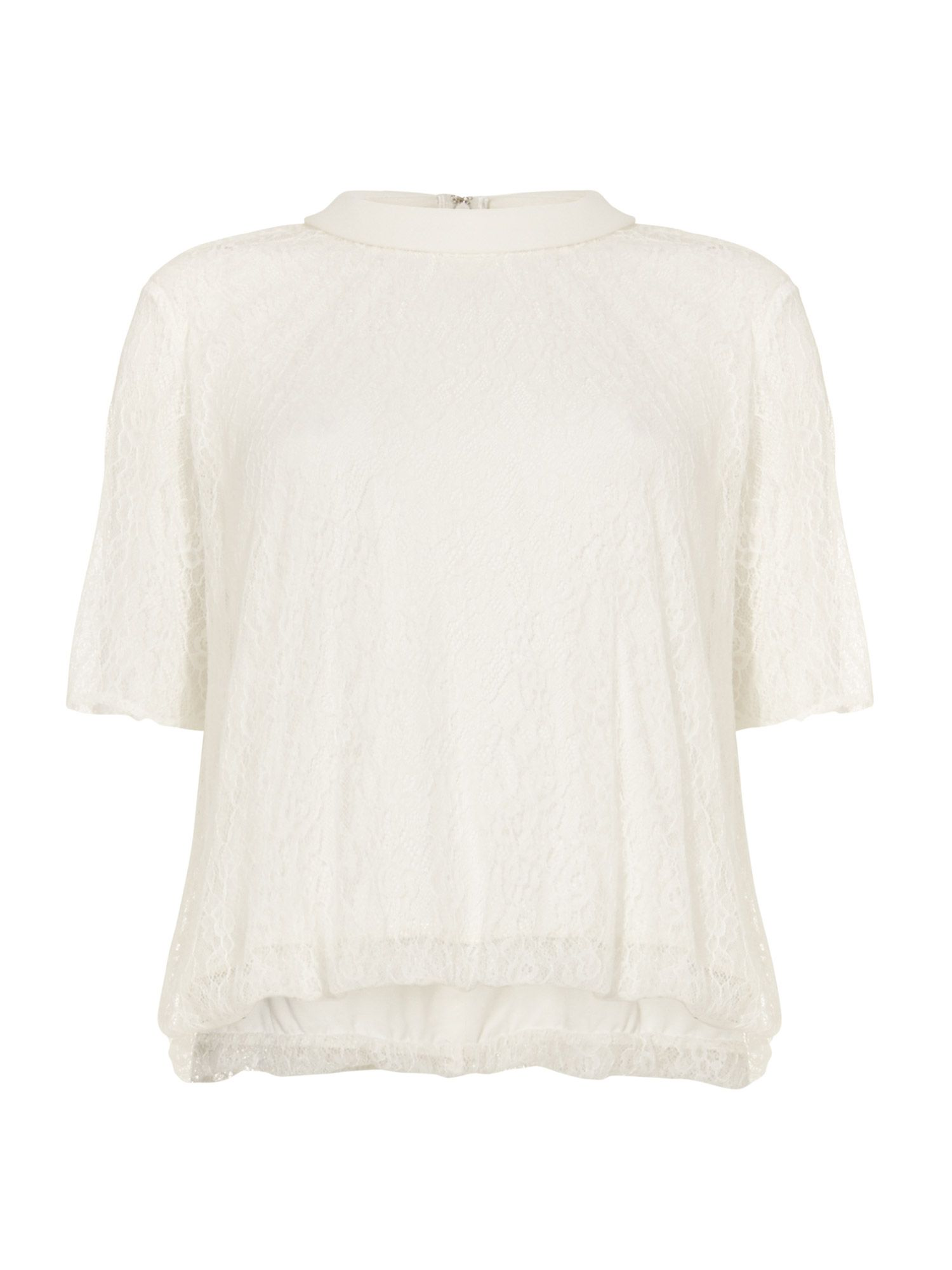 Damsel in a Dress Sensu Pleat Blouse, Cream