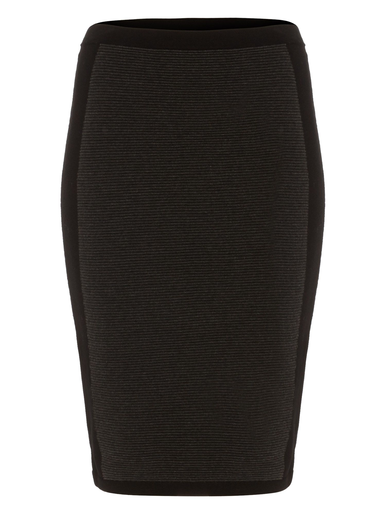 Damsel in a Dress Panelled Knit Skirt, Black