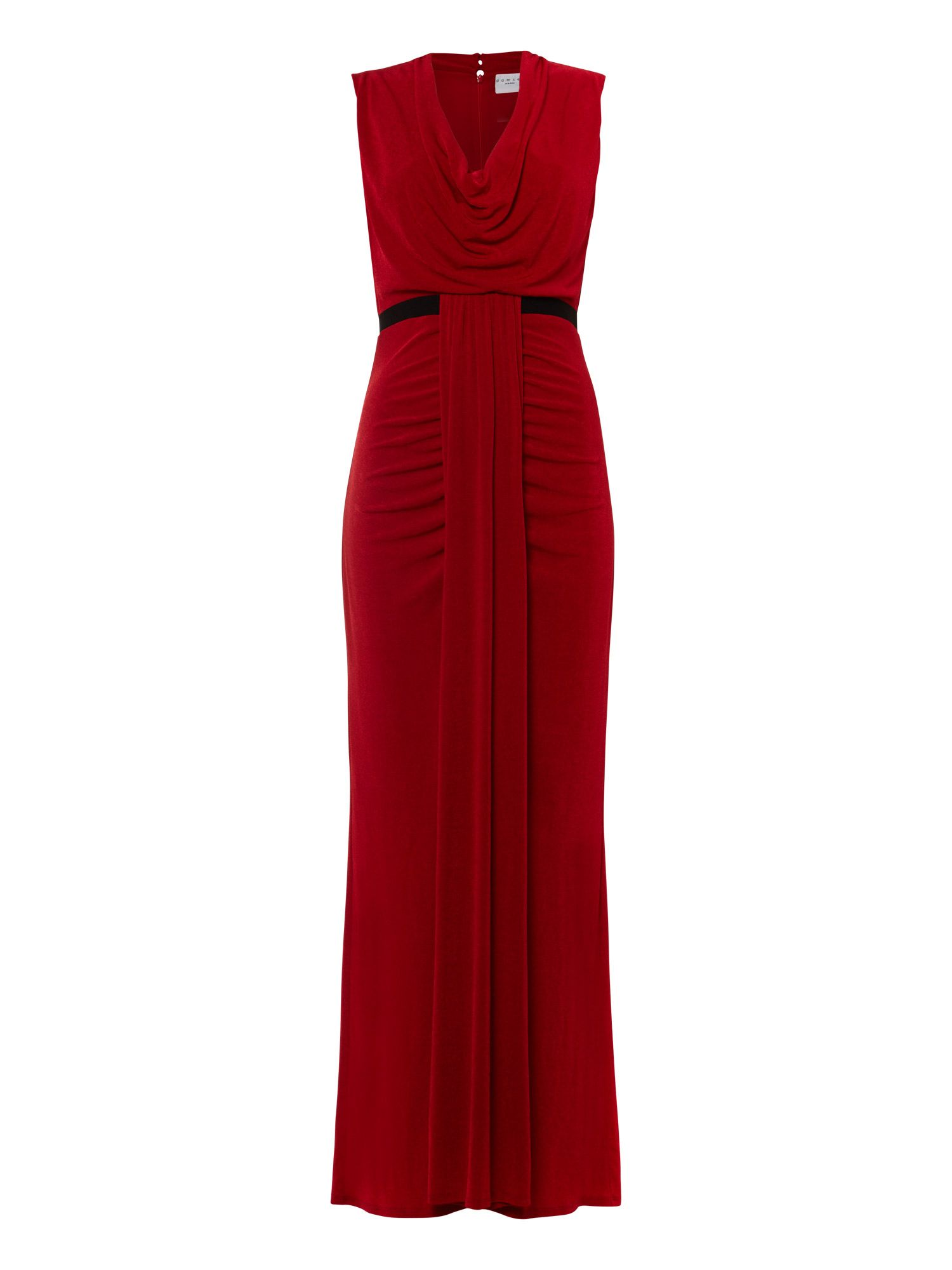 Damsel in a Dress Cowl Maxi, Red