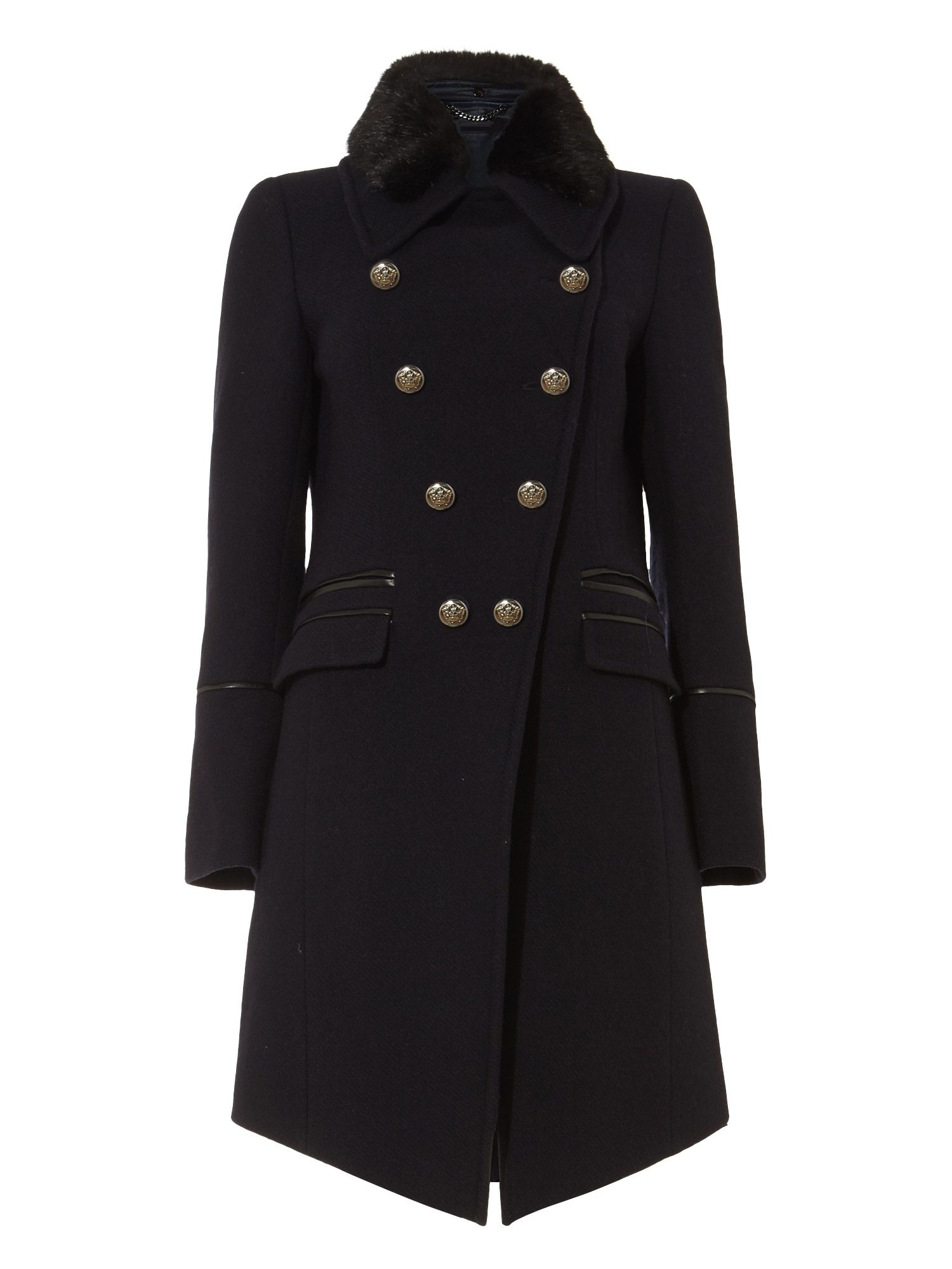 Damsel in a Dress Fairfield Military Coat, Blue