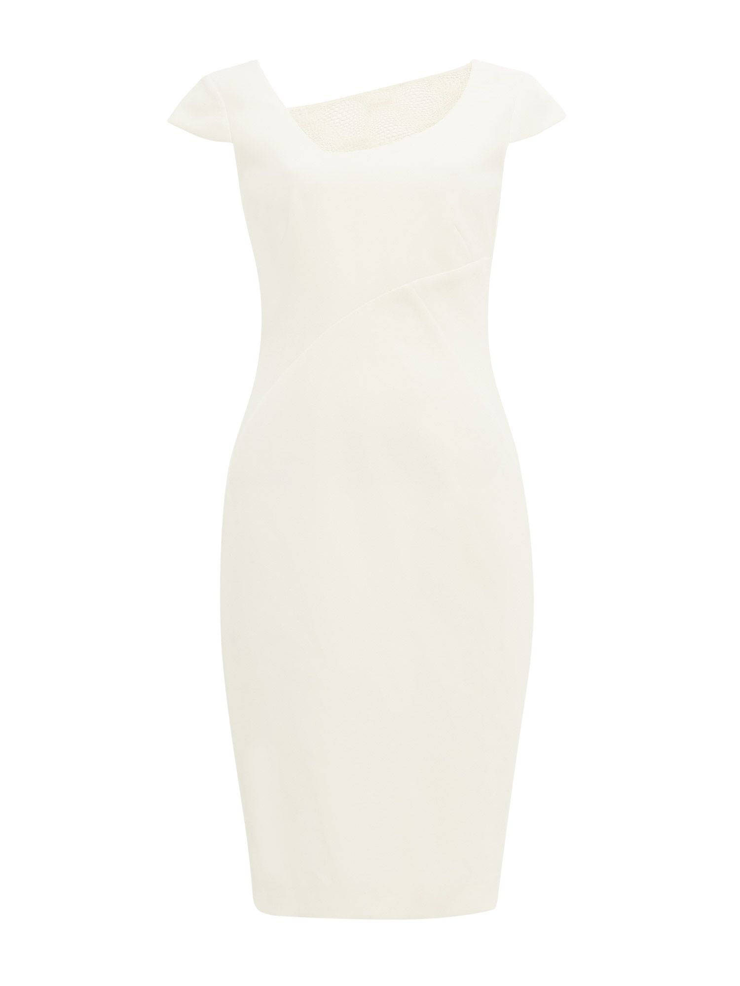 Damsel in a Dress Clivedon Lace Trim Dress, White