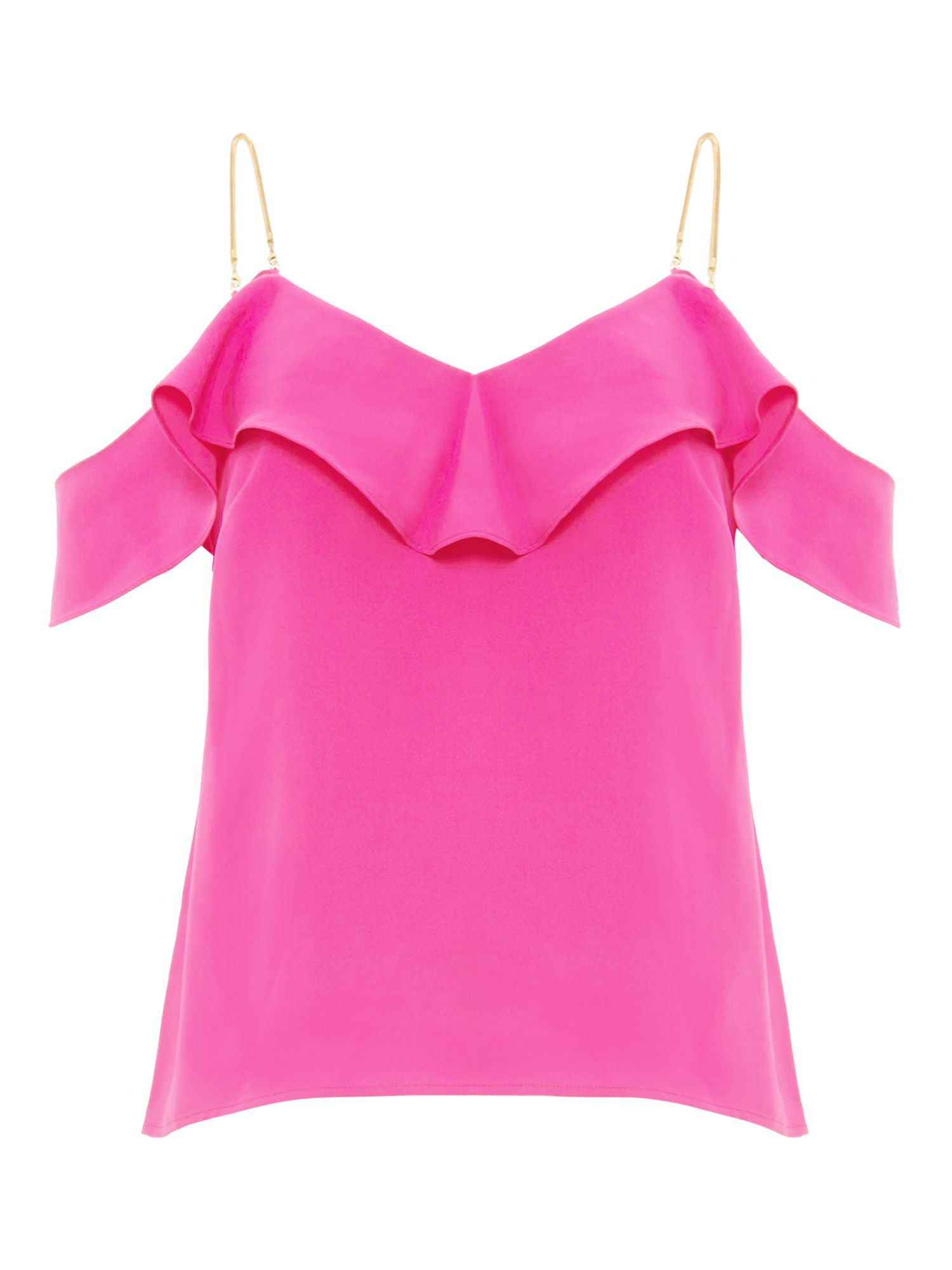 Damsel in a Dress Alessia Cold Shoulder Top, Hot Pink