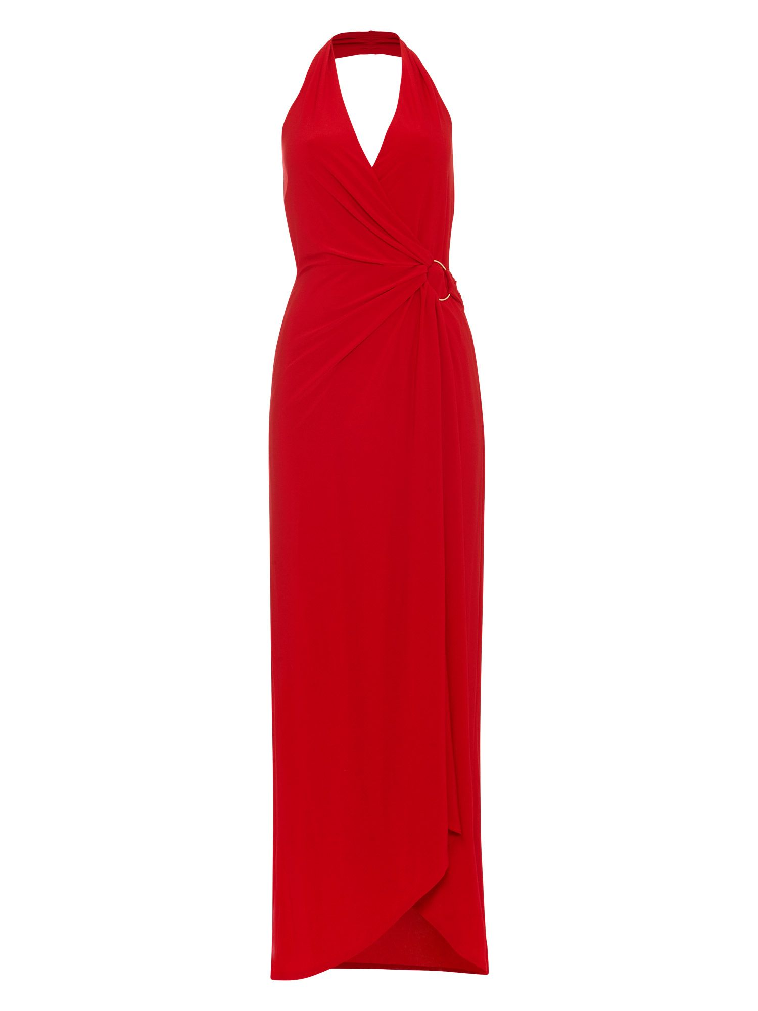 Damsel in a Dress Antonia Gold Ring Maxi Dress, Red