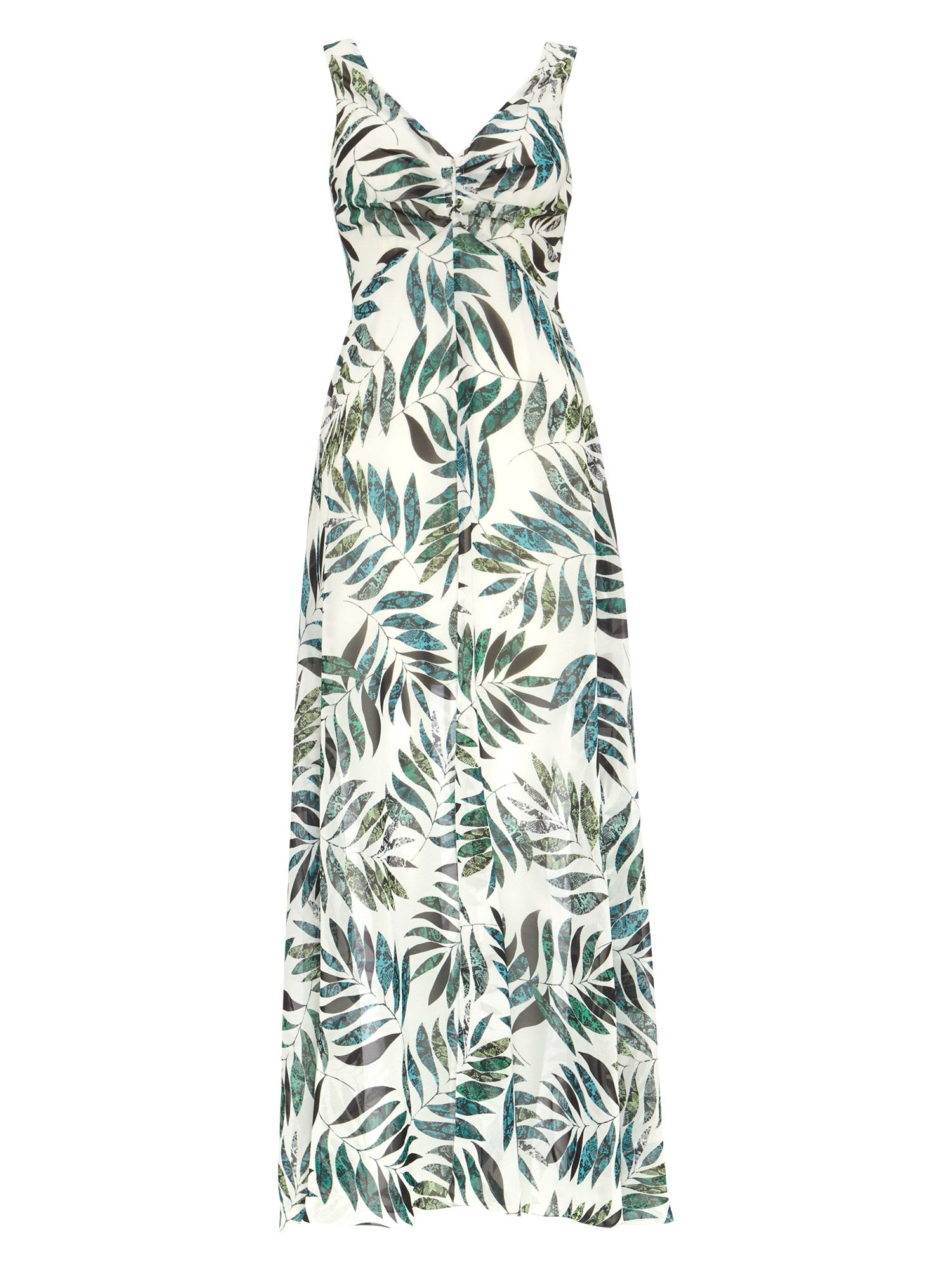 Damsel in a Dress Nadia Snake Palm Maxi Dress, Multi-Coloured