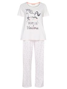 Dorothy Perkins Neppy Unicorn PJ Set