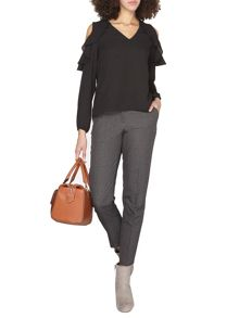Dorothy Perkins Tall Grey Check Ankle Grazer Trouser