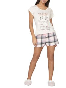 Dorothy Perkins Wake Me Up With Coffee PJ Set