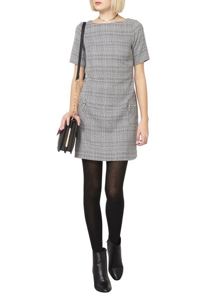 Dorothy Perkins Short Sleeve Check Shift Dress