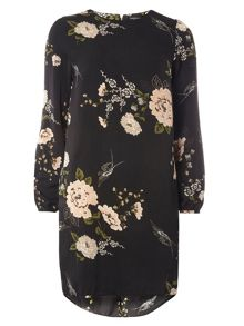 Dorothy Perkins Floral Print Hi-Lo Hem Dress