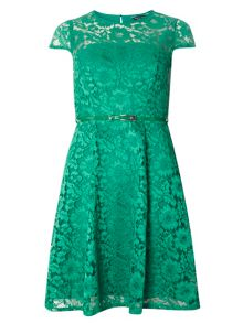 Dorothy Perkins Belted Lace Dress