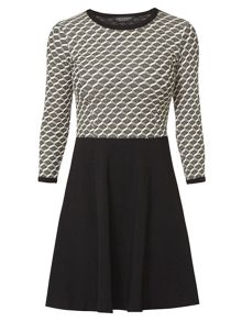 Dorothy Perkins Jacquard Fit and Flare Dress