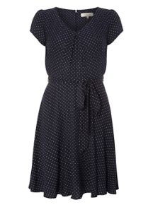 Dorothy Perkins Billie and Blossom Petite Pinspot Dress