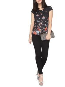 Dorothy Perkins Billie and Blossom Petite Border Shell Top