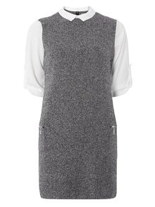 Dorothy Perkins Petite Monochrome 2in1 Dress