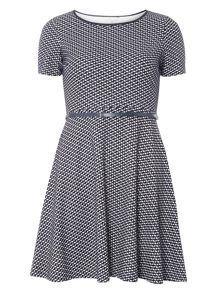 Dorothy Perkins Billie and Blossom Petite Zigzag Jacquard Dress