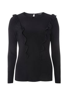 Dorothy Perkins Frill Long Sleeve Top