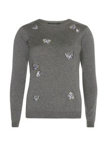 Dorothy Perkins Embroidered Butterfly Jumper