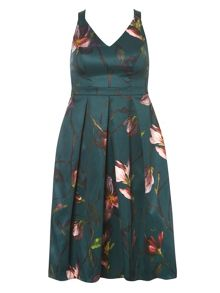 Dorothy Perkins Petite Floral Satin Prom Dress