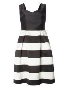 Dorothy Perkins Luxe Mono Stripe Prom Dress