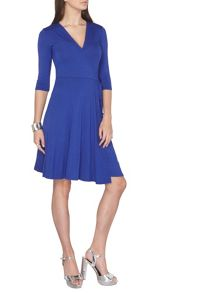 Dorothy Perkins Tall Wrap Fit And Flare Dress