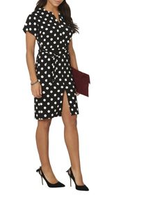 Dorothy Perkins Mono Spot V Front Dress