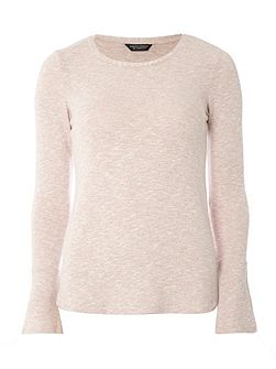 Flute Sleeve jersey Knitted Jumper