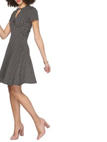 Dorothy Perkins Tall Dot Keyhole Dress