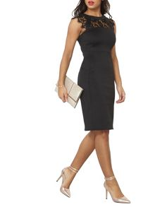 Dorothy Perkins Lace and Scuba Pencil Dress