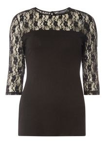 Dorothy Perkins Lace Long Sleeve Top