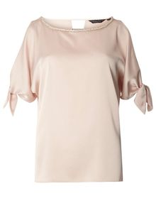 Dorothy Perkins Embellished Choker Top