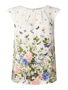 Dorothy Perkins Billie and Blossom Floral Border Shell Top