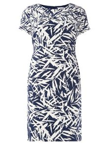 Dorothy Perkins Lily and Franc Leaf Print Bodycon Dress