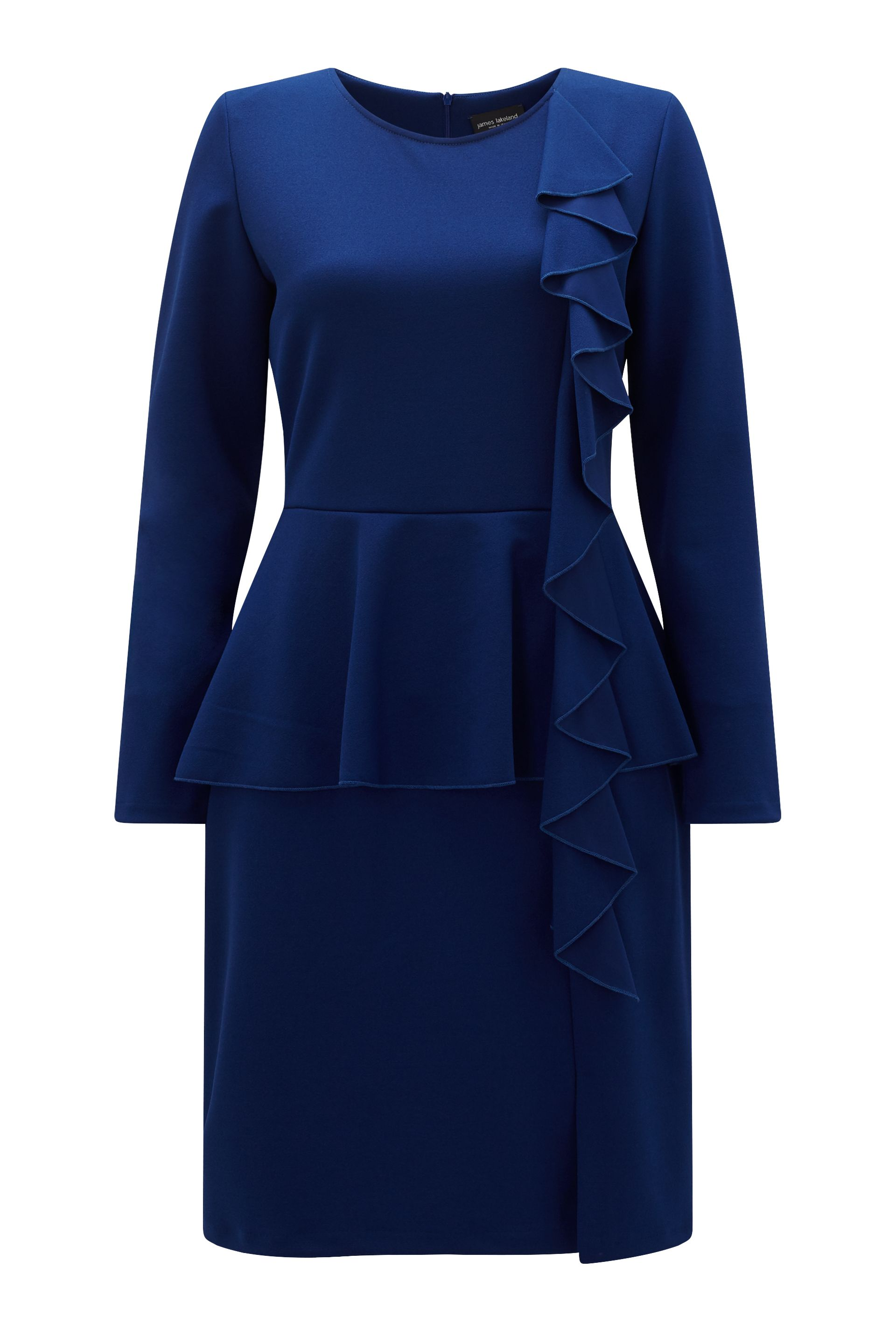 James Lakeland Ruffle Peplum Dress, Blue