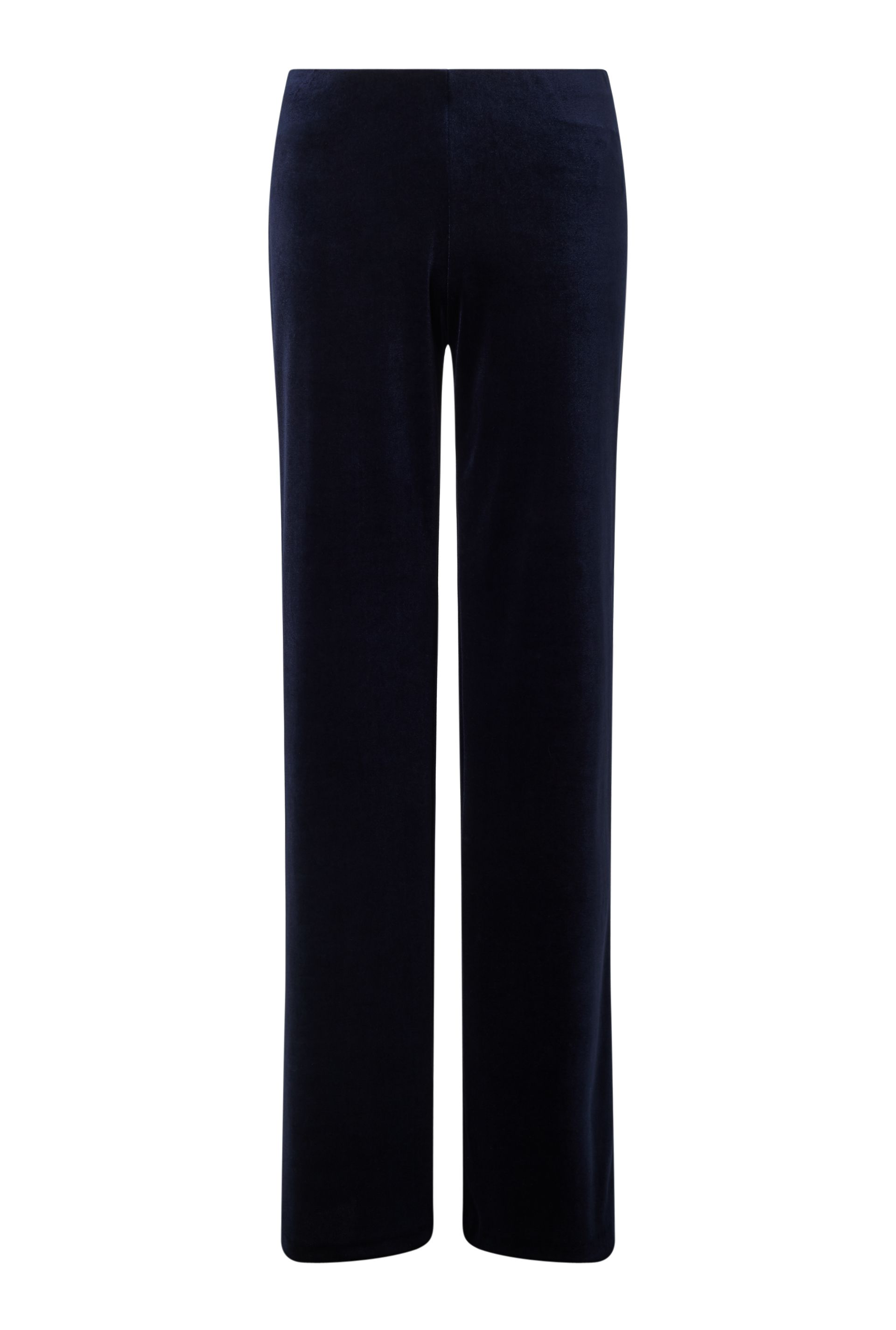 James Lakeland Velvet Wide Leg Trousers, Blue